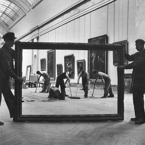 'Workers at The Louvre', Paris. Fotografía de Pierre Jahan. 1947.