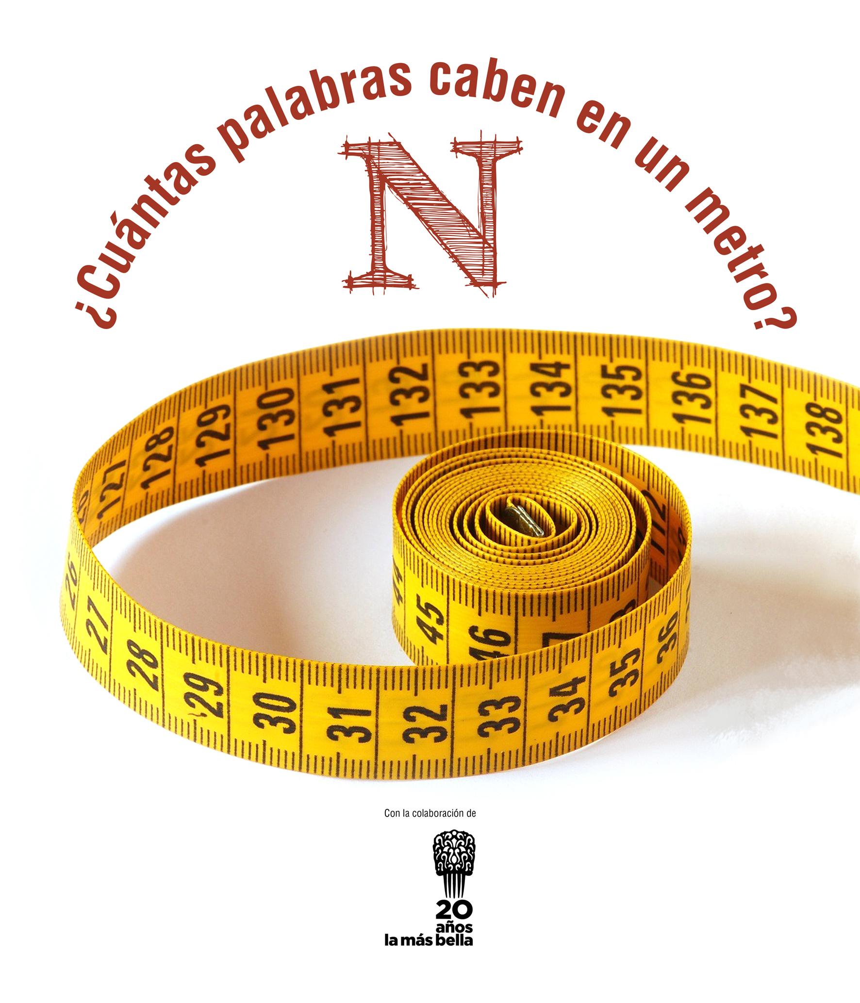 ¿Cuántas palabras caben en un metro? - Cartel para BolaBellamátic